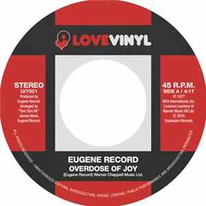 Eugene Record - Overdose Of Joy